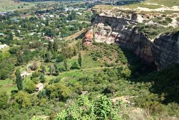 Looking down on Clarens